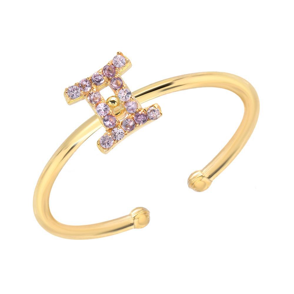 Mini Mini Jewels 14k Gold Dazzling Alexandrite Birthstone Zodiac Cancer Dog-tag Pendant Nacklace